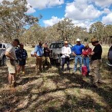 Dave Carr teaching wood collectors and landholders how to collect wood sustainably at Lana Station.