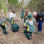 Students from St Josephs Primary learning how to do a Checking for Change study.