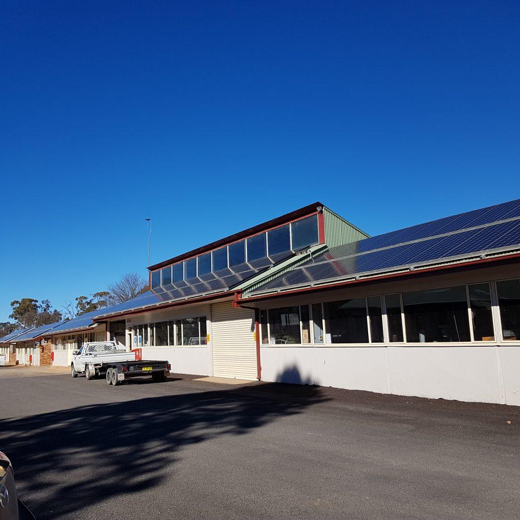 Solar panels on CSIRO building.