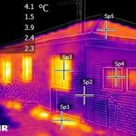 Thermal Imaging photo of heat loss from a home.